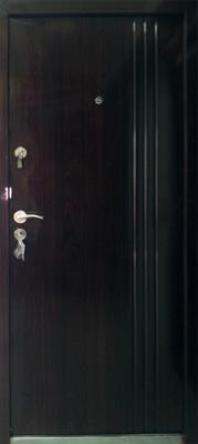 sigurnosna vrata 3 linear braon tamna
