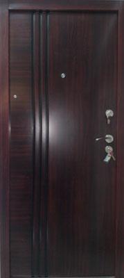 sigurnosna vrata 3 liner braon