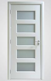 sobna vrata galss door bela