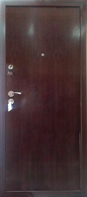 sigurnosna vrata braon ravna